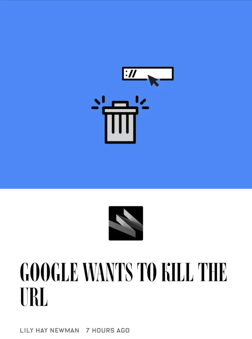 WIRED: Google Wants to Kill the URL